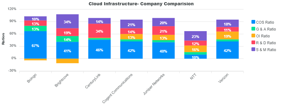 Cloud Infrastructure Ratios by Company